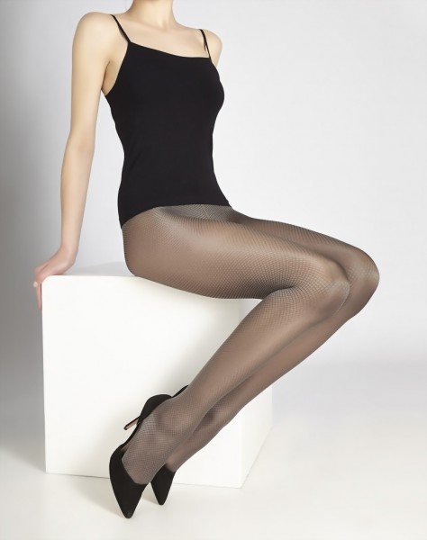 Cecilia de Rafael - Elegant glossy diamond patterned tights Daphne