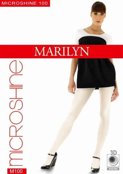 Marilyn - Opaque glossy tights Microshine 100 den