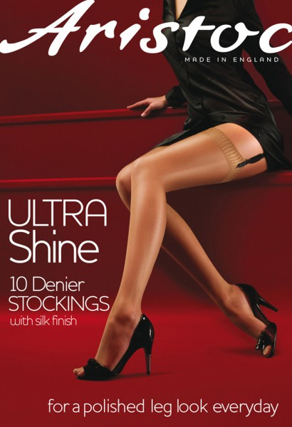 Błyszczące pończochy do paska Ultra Shine marki Aristoc
