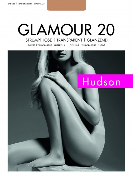 Gładkie błyszczące rajstopy Glamour 20 marki Hudson