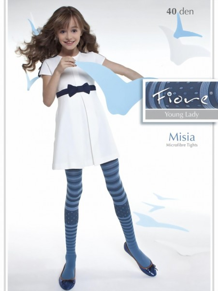 Fiore - Trendy childrens tights with stripes Misia 40 denier