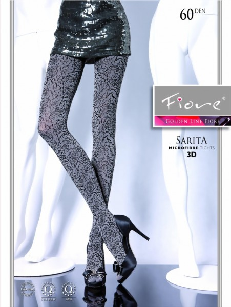 Fiore - Opaque all over floral pattern tights Sarita 60 DEN