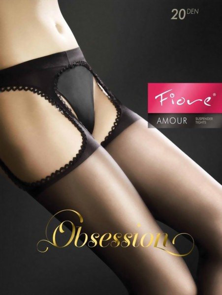 Fiore - Suspender tights Amour, 20 denier