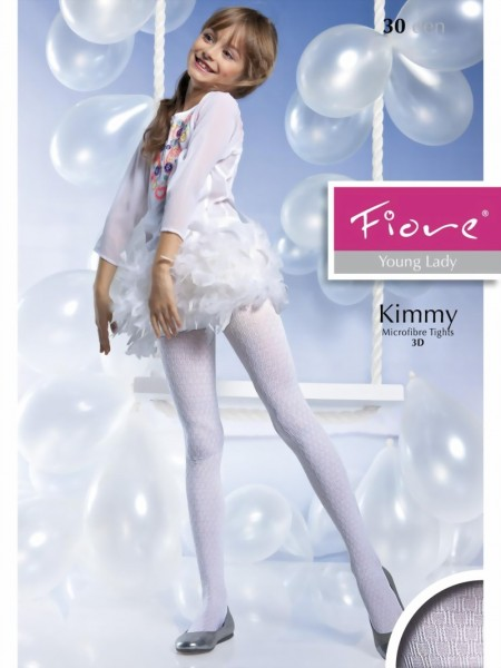 Fiore - Elegant patterned childrens tights Kimmy 40 denier