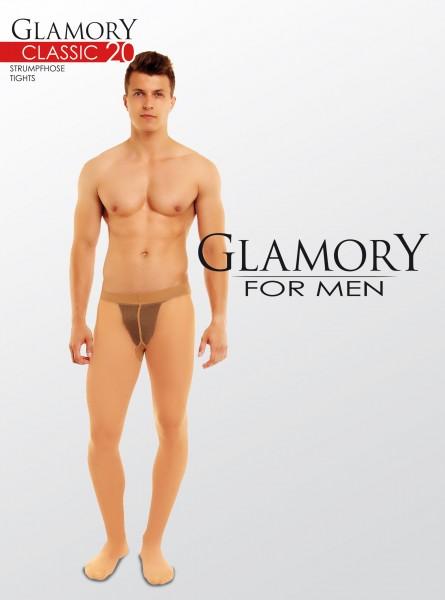 Transparentne rajstopy męskie w dużych rozmiarach Classic 20 DEN marki Glamory
