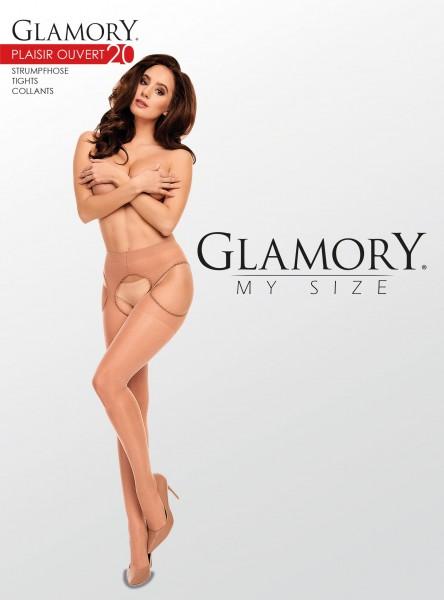 Rajstopy Strip Panty w dużych rozmiarach Plaisir Ouvert 20 marki Glamory